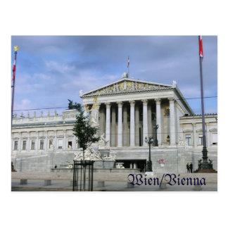 Vienna, the parliament postcard
