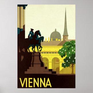 Vienna ~ Vintage Austrian Travel Poster