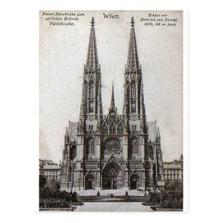 Vienna, Votivkirche, 1908 Postcard