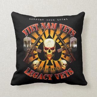 Viet Nam / Legacy Vets MC Support Pillow. Cushion
