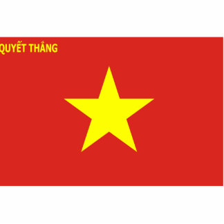 Viet Nam Peoples Army, Vietnam flag Acrylic Cut Out