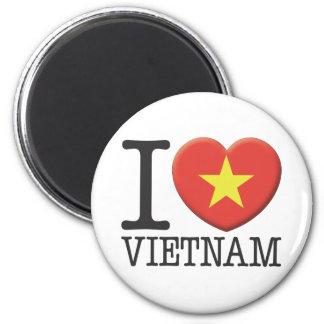 Vietnam 6 Cm Round Magnet