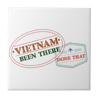 Vietnam Been There Done That Small Square Tile