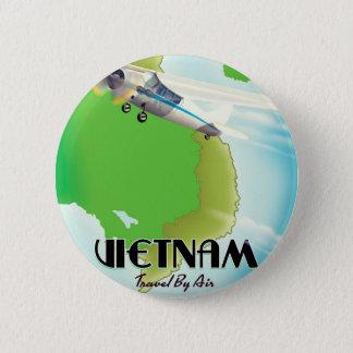 Vietnam by Air vacation print. 6 Cm Round Badge