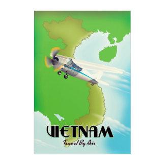 Vietnam by Air vacation print. Acrylic Wall Art