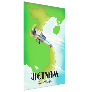 Vietnam by Air vacation print. Canvas Print
