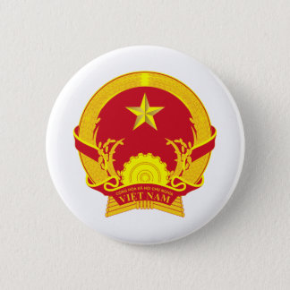 Vietnam coat of arms 6 cm round badge