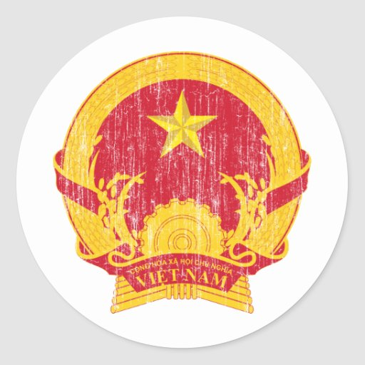 Vietnam Coat Of Arms Stickers