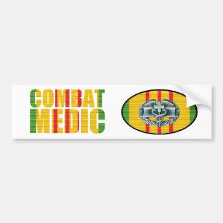 Vietnam Combat Medic Sticker Pair Bumper Sticker