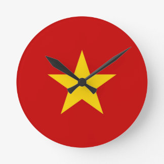 vietnam country flag clock