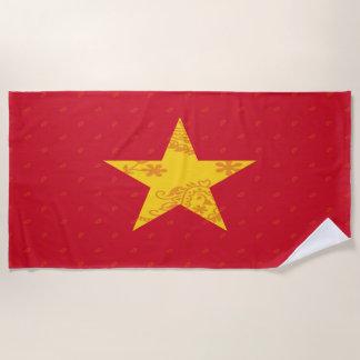 Vietnam Flag Beach Towel