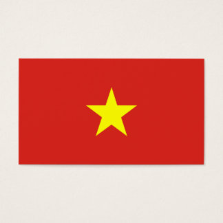Vietnam Flag Business Card