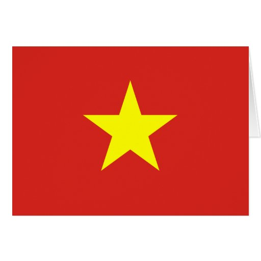 Vietnam Flag Greeting Cards