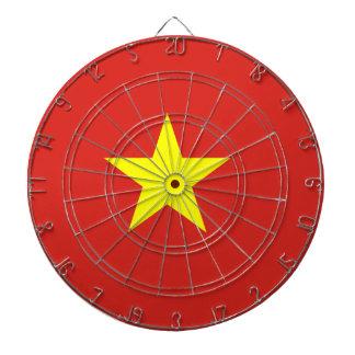 Vietnam flag dartboard