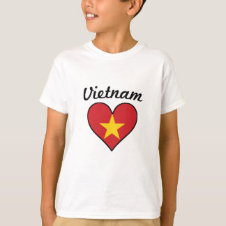 Vietnam Flag Heart T-Shirt