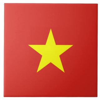 Vietnam Flag Large Square Tile