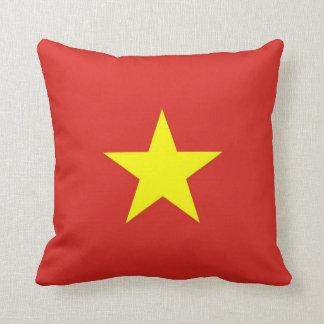 Vietnam Flag on American MoJo Pillow Throw Cushions