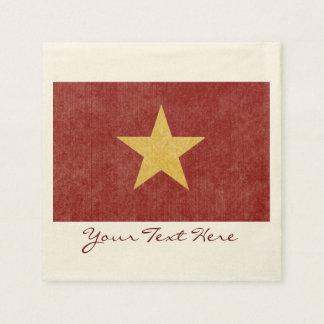 Vietnam Flag Party Napkins Paper Napkin