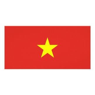 Vietnam Flag Photo Card Template