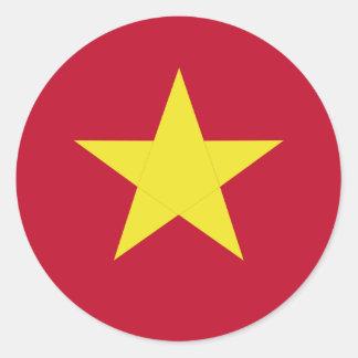 Vietnam flag round sticker
