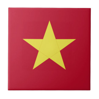 Vietnam flag small square tile