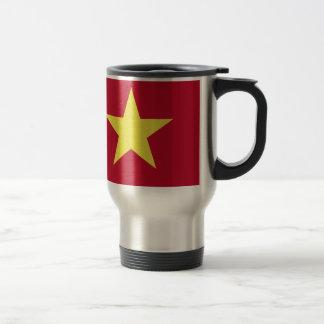 Vietnam flag travel mug