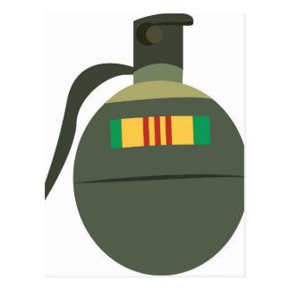 Vietnam Grenade Postcard