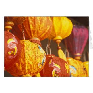 Vietnam, Hoi An Large lanterns, souvenirs Greeting Card