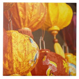 Vietnam, Hoi An Large lanterns, souvenirs Large Square Tile