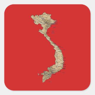 Vietnam Map Sticker