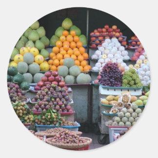 Vietnam Market Classic Round Sticker