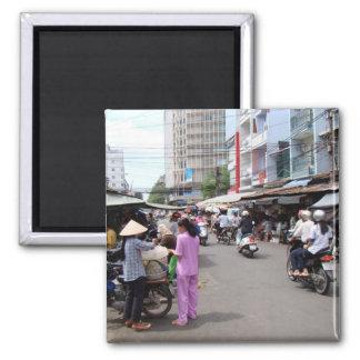 Vietnam Market Square Magnet