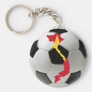 Vietnam national team basic round button key ring