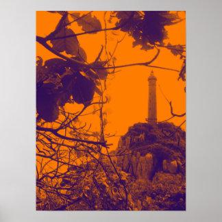 Vietnam Oldest Highest Lighthouse Orange Photo Poster