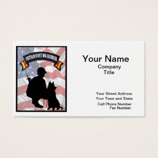 Vietnam Scout Dog Handler Business Cards