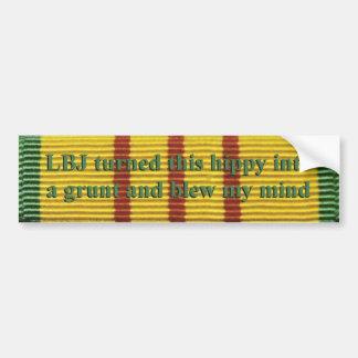 Vietnam service hippy bumper sticker