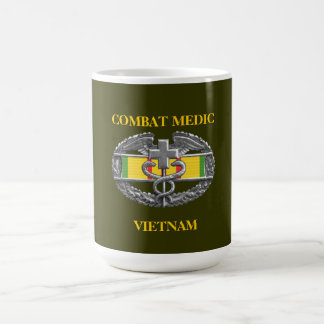 Vietnam Service Ribbon Background CMB Mug