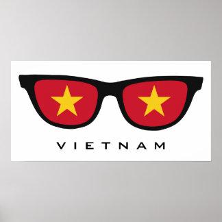 Vietnam Shades custom text & color poster