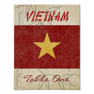 Vietnam Table Number Poster
