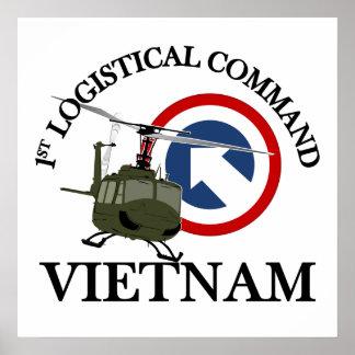 Vietnam Vet - 1st Log Cmd Poster