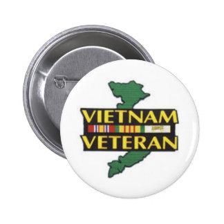 Vietnam Veteran 6 Cm Round Badge