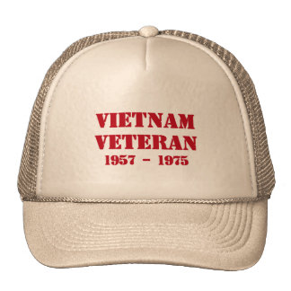 Vietnam Veteran Trucker Hats