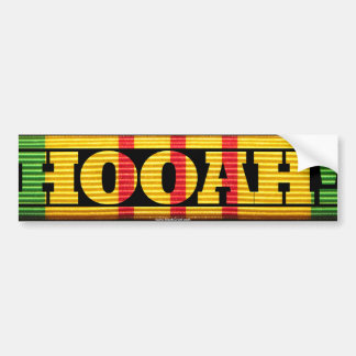 Vietnam Veteran HOOAH Sticker Bumper Sticker