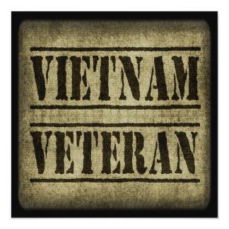Vietnam Veteran Military 13 Cm X 13 Cm Square Invitation Card