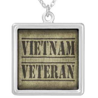 Vietnam Veteran Military Silver Plated Necklace