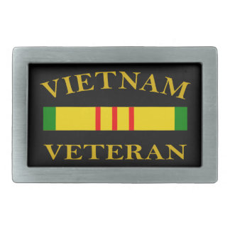 Vietnam Veteran Rectangular Belt Buckles