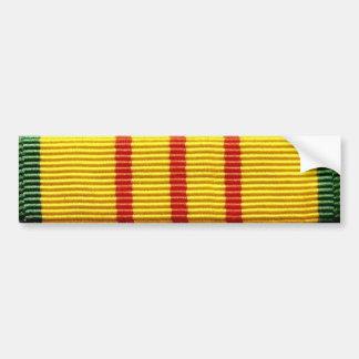 Vietnam veteran service ribbon bumper sticker