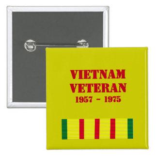 Vietnam Veteran Vietnam Veteran Pinback Buttons