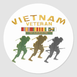 Vietnam Veteran Warrior cards, posters, paper item Classic Round Sticker