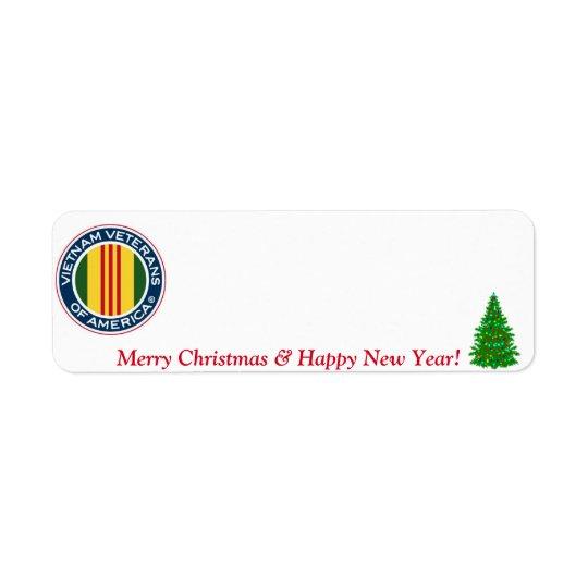 Vietnam Veterans of America Christmas Label #3 Return Address Label